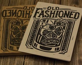 Old Fashioned-  Block Print