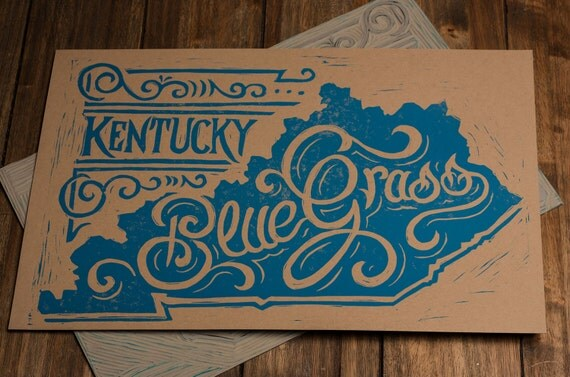 Kentucky Bluegrass - Block Print