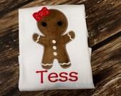 Gingerbread Girl Shirt FREE Personalization, Christmas Shirt