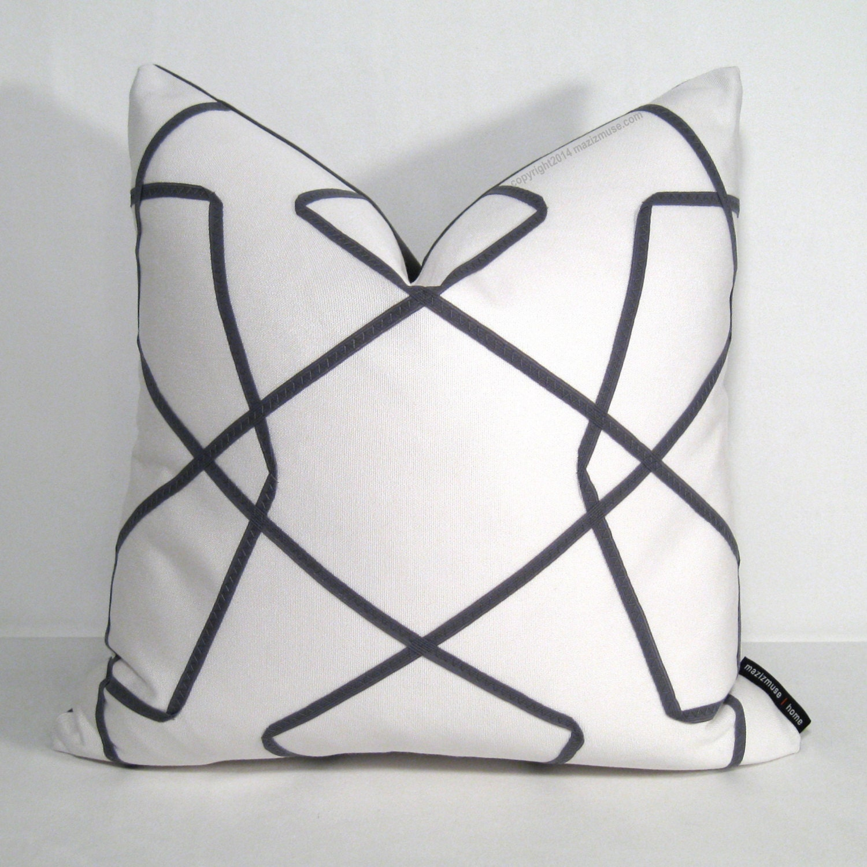 Modern Geometric Pillows : Chandeliers & Pendant Lights