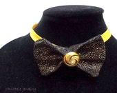 black and gold bow tie for women