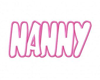 Nanny Embroidery Machine Applique Design 4055