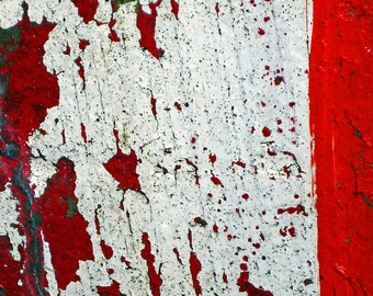 Red Shift - Decaying Surface and Peeling Paint Fine Art Photography -  Signed Limited Edition Wall Art with Various Size and Finish Options