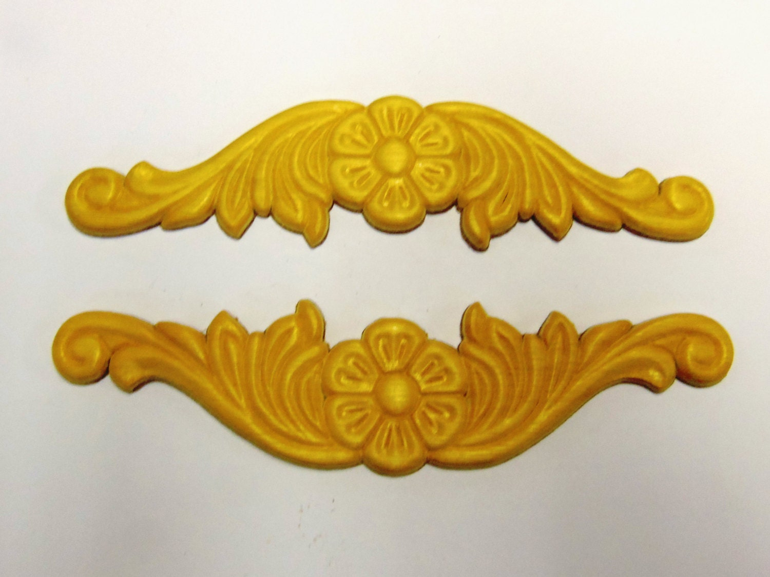 4 Wood Appliques Onlays Birch Embossed Furniture By Prettyware