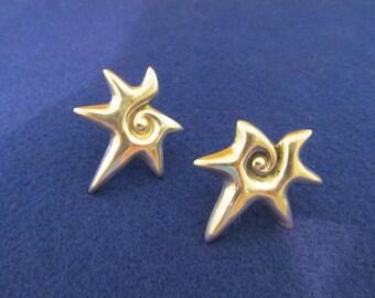 William Spratling Earrings 1940s Taxco Silver