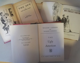 Sale - Antique Books - The Spy -  The Ugly American -  My Uncle's Dream - Treasured Classics - Collectibles - Hard Cover - Classics