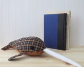 Gingham Narwhal Plush, Plush Narwhal, Toy Narwhal, Sea Creature Plush