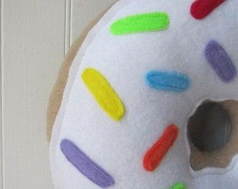 Mini Rainbow Sprinkled Doughnut Plush, Dounut Pillow, Mini Doughnut