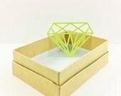 Neon Green Diamond Die Cuts- Embellishments- Confetti