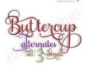 Buttercup Monogram Set Alternates 3 - Small- Machine Embroidery Font Alphabet Letters - Instant  Download Digitial design