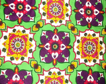 Bright Mod Boho Fabric • 2 yards 34 inches X 44 inches