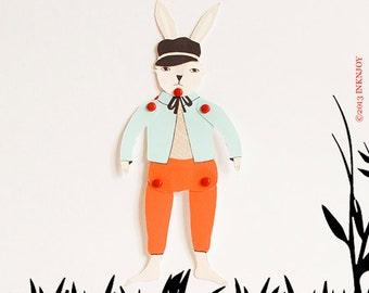 Mon Petit Rabbit Paper Doll