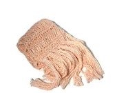Pink Knit Scarf, Pink Cotton Scarf. Drop Stitch Scarf, Hand Knit Scarf Is Perfect For Mother's Day, Spring Scarf