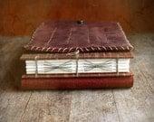 Leather Artist Journal, Refillable Art Book, Pencil Holder, Watercolor Artist