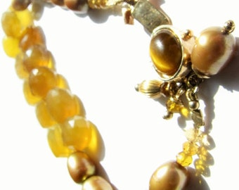 Handmade Pearl and Bead bracelet