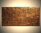 Original Modern Textured Metallic Contemporary Abstract Painting By Henry Parsinia Ready To Hang 48x24