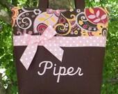 Personalized diaper bag, Personalized handmade diaper bag