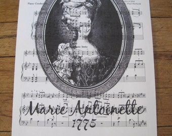 NEW french market marie antoinette on vintage sheet music