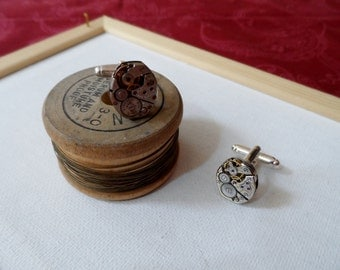 Jeweled Watch Movement Cuff Links
