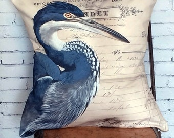 Pillow Cover Blue Heron