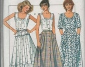 Misses Button Front Skirt Style Sewing Pattern Uncut Size 14