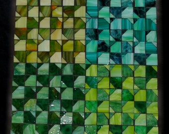 Four Seasons Mosaic Wall Art Green through the seasons