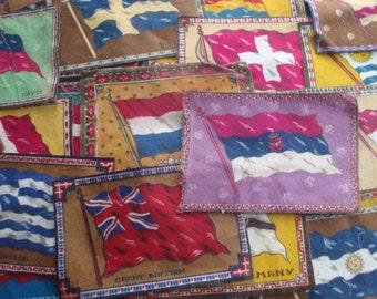 Vintage Tobacco Felts 24 Flags