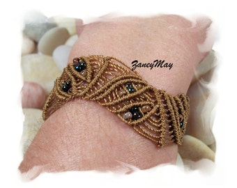 Eyes of Autumn Bracelet, Macrame Pattern in PDF