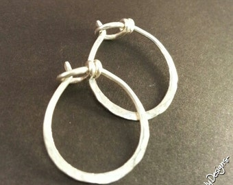 Sterling Silver filled Infinite Hoops,18g,Sml., Handforged by ThePurpleLilyDesigns