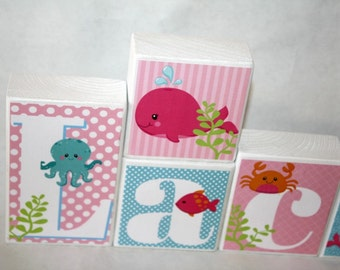 Lacey Sea Animals Collection -No tulle-Inspired by Under the Sea Bedding by Carters-Baby-Nautical Baby Shower -Whale Baby Shower -Sea Theme-