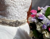 Bridal Wedding Crystal Belt Sash Antique Victorian Vintgage Style