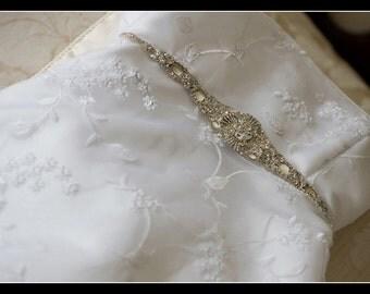 Wedding Dress Crystal Sashes Belts crystal embellishment beaded