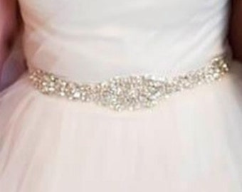 Anna Wedding bridal dress gown beaded jeweled crystal belt embellishment