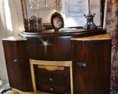 SALE ***Available ~ Vintage Art Deco OLD WORLD Buffet Sideboard Console / Local pickup only