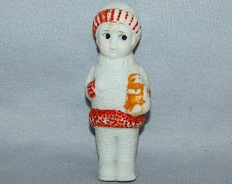 Vintage / Bisque Doll / Kitty / Cat / Snowsuit / frozen charlotte / penny doll / Vintage dolls