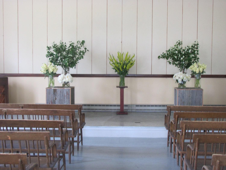 Wedding Flower Stands Wedding Ceremony Wedding By Primitivearts