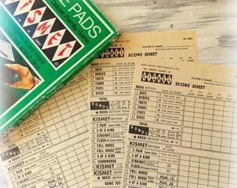 Vintage Kismet Score Card Sheets