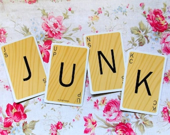 Scrabble Game Cards - JUNK