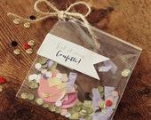 Confetti Labels - Let it Rain Confetti wedding stickers