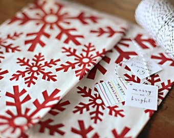 25 x Large Snowflake favor goodie bags Christmas and Holiday
