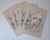 Pack of 5 Postcards-Miranda