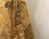 vintage. Reversible Silk Indian Wrap Short Skirt // S to M