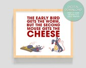 """Digital Download """"The Second Mouse""""  - 8x10 inches (20.32 x 25.4 cm) - Instant Digital Download - PRINTABLE Art -  Kids room"""