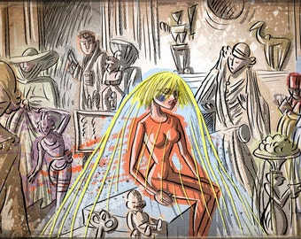Pris from Blade Runner ART PRINT illustration drawing Wall Art Home Decor