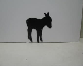 Donkey 024 Metal Wall Yard Art Silhouette