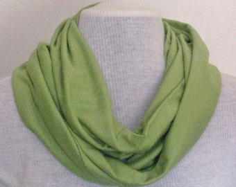 Soft Green Jersey Infinity Scarf