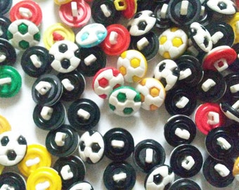 25 pcs Football Shank Button size 12 mm Mix Color