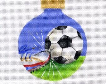 Soccer Ball and Sneaker Needlepoint Ornament - Jody Designs B132