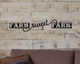 Farm Sweet Farm Wall Quotes Words Removable Country Wall Decals Farm Lettering 2 Sizes! DA018_D