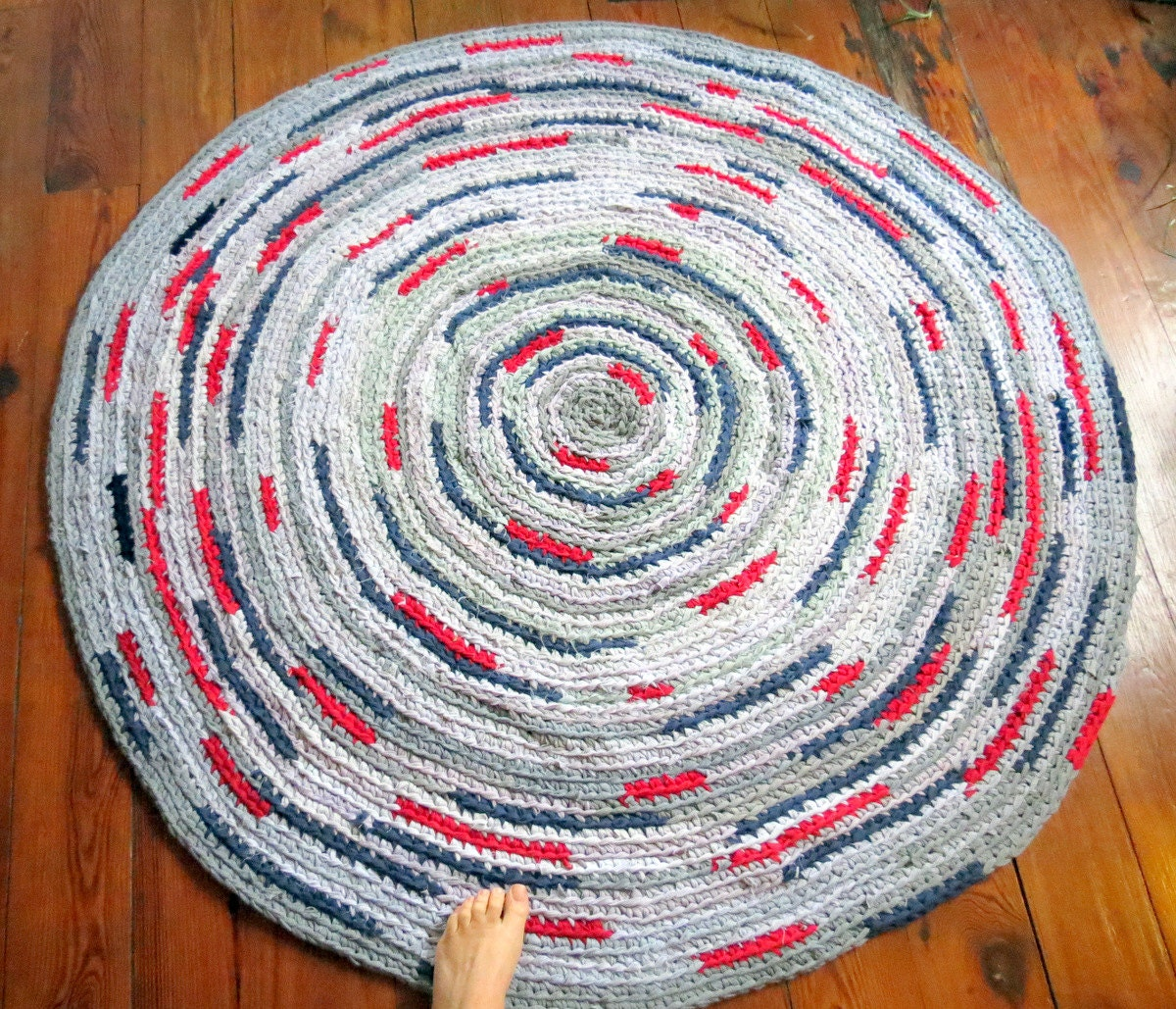 Rug Rag Rug Handmade Crochet Rug Round Rug
